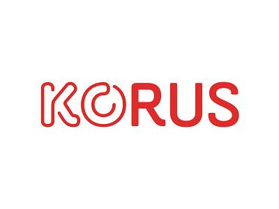 KORUS logo design graphic logo type