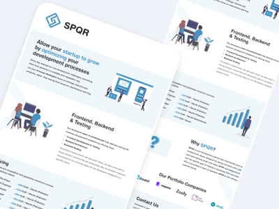 One pager spqr income prices business onepager branding graphic designing typography logo illustration creative design adobe xd