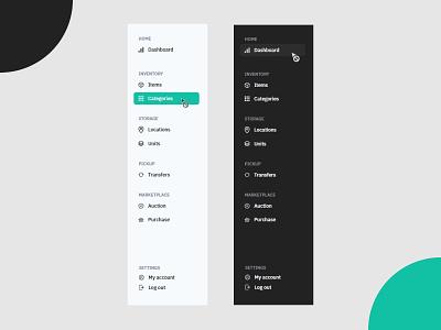 Side Menu hover effect icon bar menubar admin nav side navigation menu design side menu side bar side panel