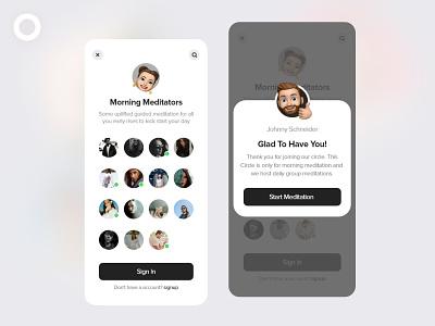 Meditation App music app player medidate yoga light mode ios app design ui app deisgn android ios app uidesign meditation app meditation