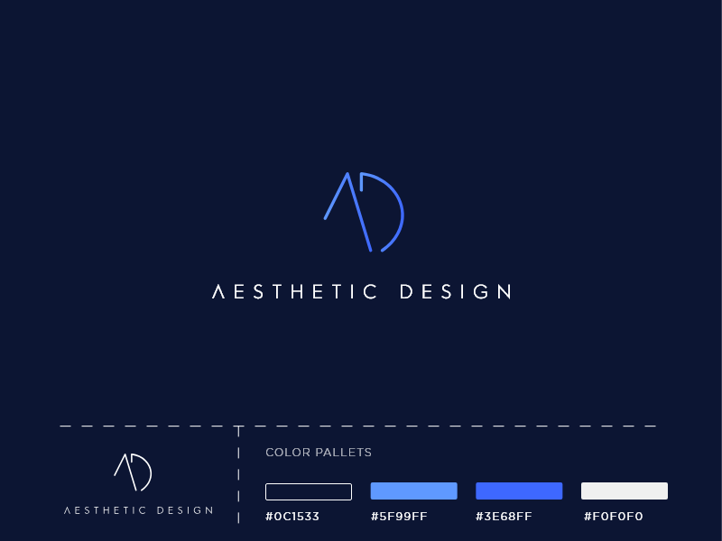 Aesthetic Design Logo contrast letter mark app vector icon app mark illustration logo type logo brand and identity icon branding design branding