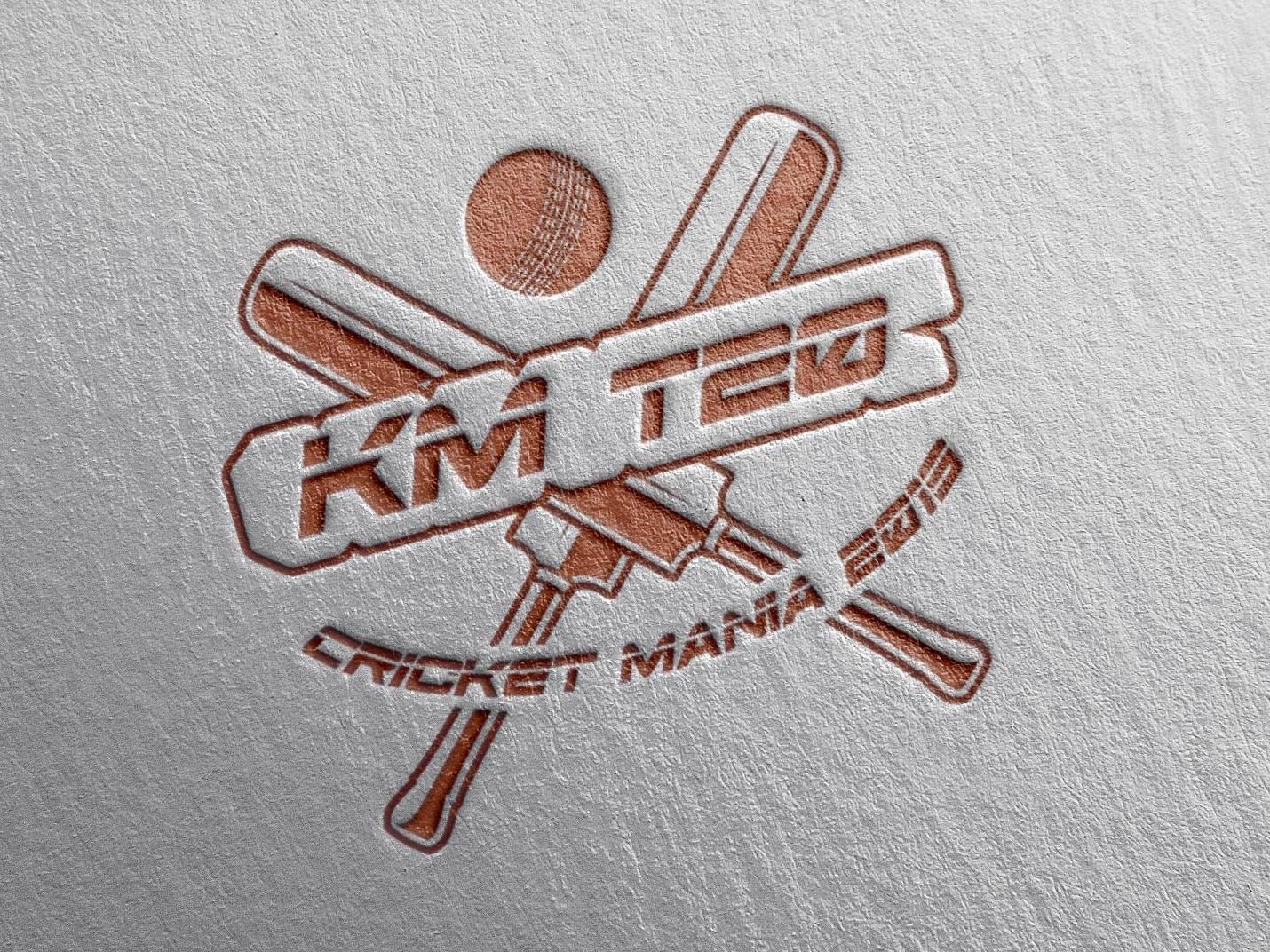 KM T20 Cricket League official Logo identity logo brand design graphic designing vector illustration graphic design creative design branding