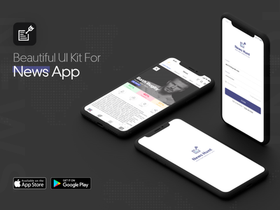 News Analysis App UX/UI ux illustration showcase news app uxui ui adobe xd