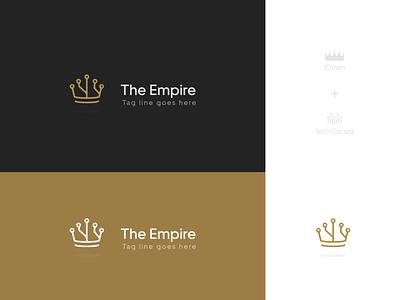 The Empire Logo dynamic design brand typography branding illustration vector logo identity creative design