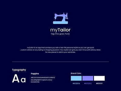 myTailor App illustration graphic designing design creative logo tailor graphic design