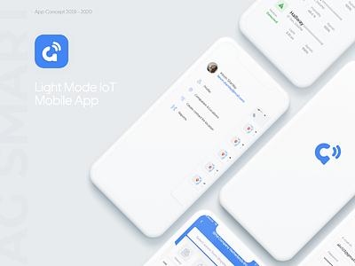 IoT App identity iot development sensors smarthome iot branding adobe xd graphic design