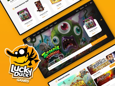 Lucky Duck Games ecommerce design e-commerce ecommerce website web layout business agency minteractive