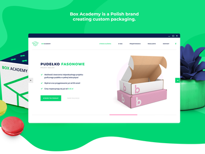 BOX ACADEMY green design web layout business agency shop landing ecommerce shop e-commerce ecommerce branding box packaging website