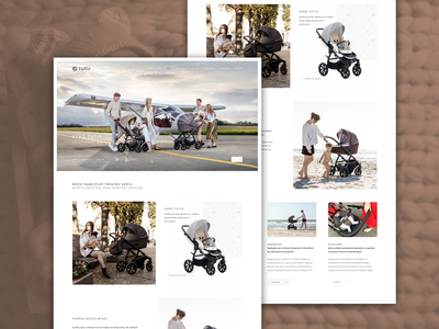 Kids Strollers catalog website illustration agency www web stollers website layout business minteractive