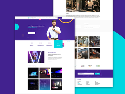 LED lighting Website layout branding minteractive icon typography ux ui business agency design webiste lighting