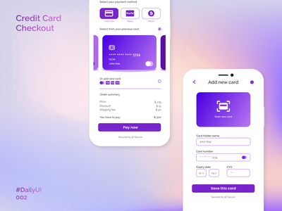 Credit Card Checkout UI payment credit card credit card checkout checkout page checkout ui  ux ui design ui daily ui dailyui