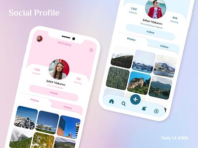 Social Profile - Daily UI 006 daily ui 006 profile social app social media socialmedia social profile ui  ux uiux ui design ui daily ui dailyui