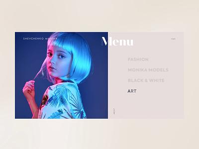 Shevchenko Marina - Menu animation fashion prototype website webdesign ux ui dribbble minimal clean