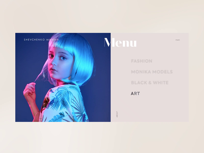 Shevchenko Marina - Menu animation fashion prototype website webdesign ux ui dribbble minimal clean