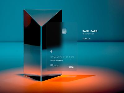 Bank Card concept - Glassmorphism clean card visa card visa dribbble design concept design conceptual concept minimal bank card bank glassmorphic glassmorphism glass