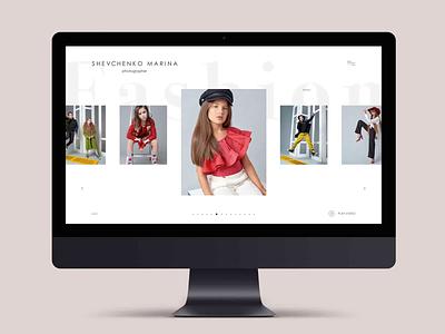 FASHION ux webdesign website ui user interface design user experience prototyping portfolio prototype photographer minimal fashion clean