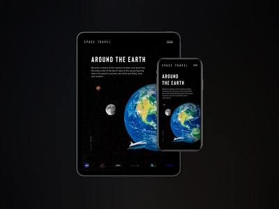 SPACE TRAVEL adaptive adaptive tablet mobile spacex elonmusk spacetravel travel design ux ui dribbble website webdesign user interface design user experience minimal clean
