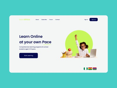 learnAfrica Digital Learning Platform online learning ux web ui product graphics learnafrica african learning education website educational education