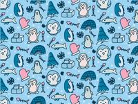 Cute Pattern Penguin