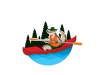 Kayaking Wolf