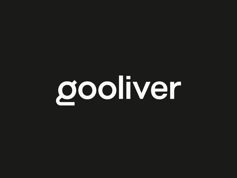 Gooliver Logo Design mark symbol clean minimal vector icon navickaite juste type font typography logo identity branding design