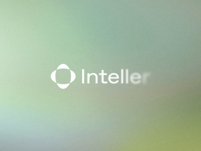 Inteller Logo Animation vilnius lithuania gradient blur symbol reveal animated visual preloader animation minimal icon type navickaite juste font typography logo identity branding