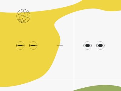 MC&S Brand identity eyes world web grid colors vector icon design icons illustration branding identity brand