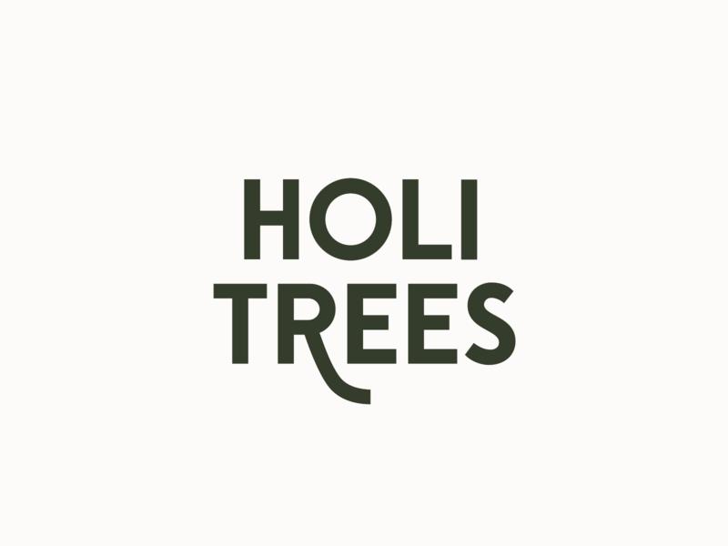 Holi Trees Logotype type font sustainable nature natural green identity icon typeface typography logotype vector tree logo christmas tree christmas design logo symbol