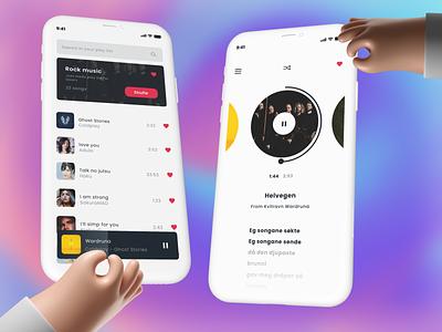 Music player   Daily Design dailyui daily design ux ui clean minimal ui ux music player music player app design app music app play song artist palylist