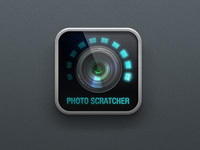 iPad2 photo app icon camera ipad led glass icon lens photography aperture moquu progress