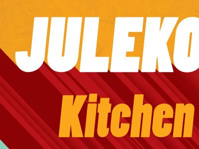 Kitchen Orchestra alternate Julekonsert Poster