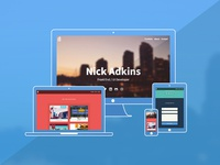 NickAdkins.com Portfolio - Responsive Views
