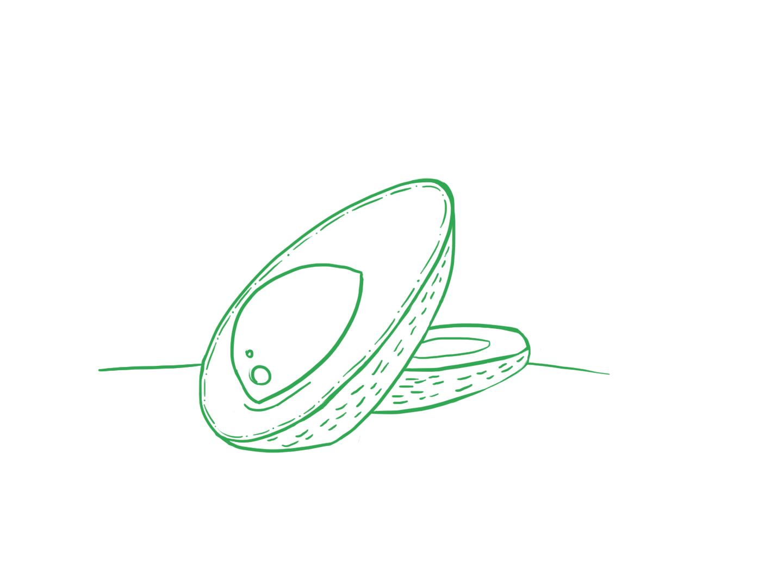 Avocado green art pink fruit mystyle simple minimalism illustration adope photoshop 2d food avocado