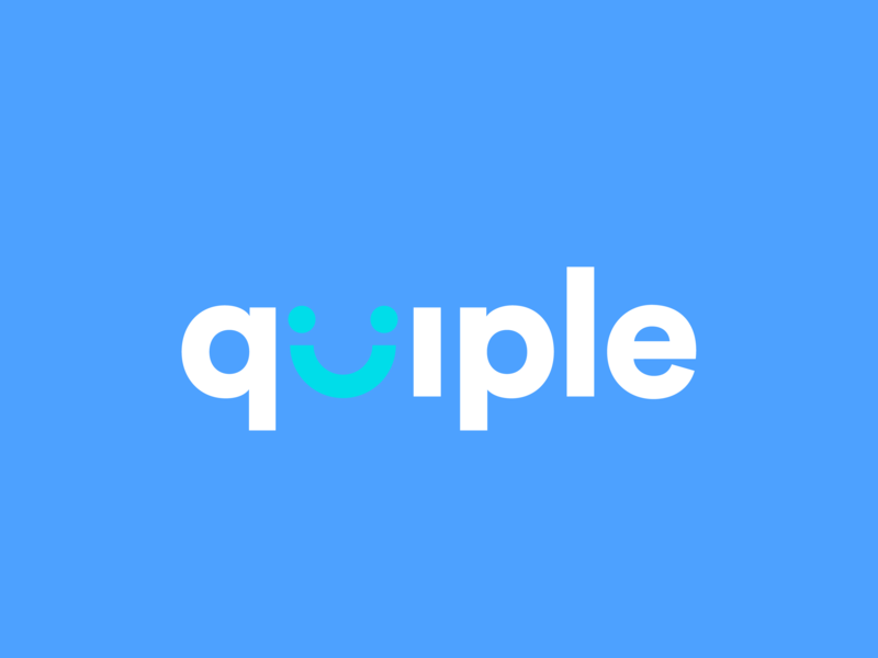 Quiple Platform Logo typography logo marketing digital company branding design