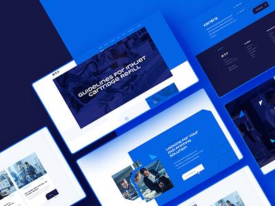 RTF company webdesign webdesign technology desktop navy blue engineering cyan dark blue ux ui white graphics web clean website design