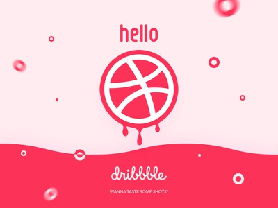 Hello Dribbble! shot first designer visual graphic dribbblers dribbble hello