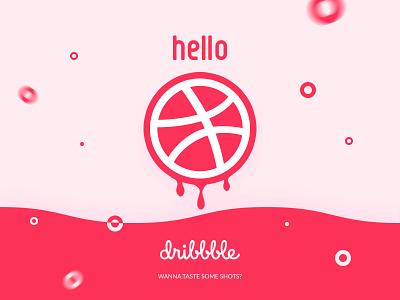 Hello Dribbble! shot first designer visual graphic dribbblers dribbble hello