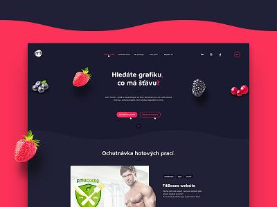 My new website strawberry graphics juicy portfolio web design website