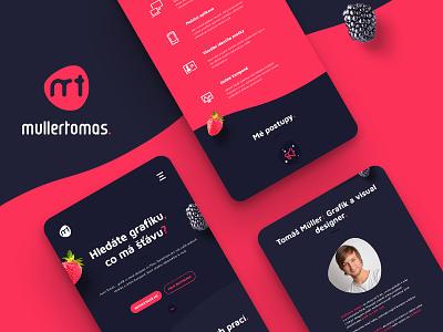 My responsive portfolio responsive website web strawberry portfolio juicy graphics design