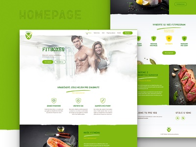 FitBoxes website homepage healthy food clean lime green webdesign design web box fitness website