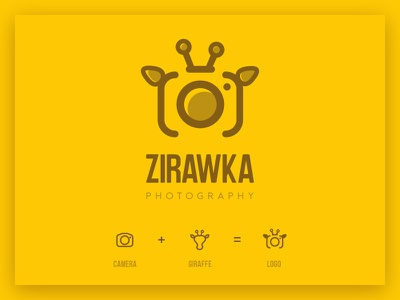 Giraffe photography logo photographer talented instagram zirawka brown yellow camera photo logo photography giraffe