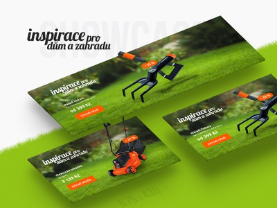Home and Garden Inspiration campaign v2 ppc advertisement ad campaign rake mower garden house home banner showcase product