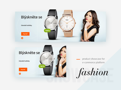 Fashion Product Showcase campaign aukro design banner white blue light watch clean e-commerce fashion blogger product fashion