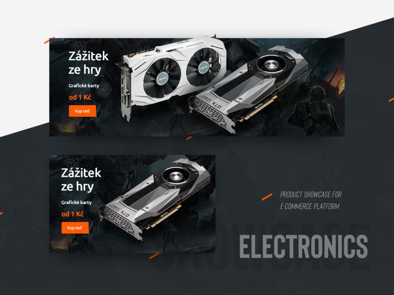 Electronics product showcase showcase product e-commerce card graphic advertisement banner design aukro campaign