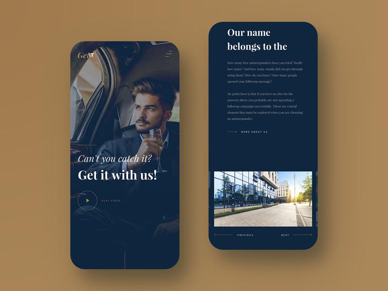 Business Company Responsive Design website web ux rich luxury brand money luxury blue gold dark business clean ui design mobile responsive responsive design