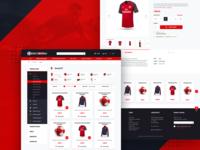 Football fanshop website