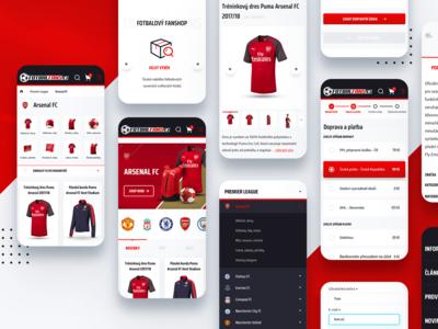 Football fanshop responsive