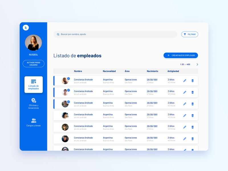 We - Employee administration minimal ux uidesign website web design ui