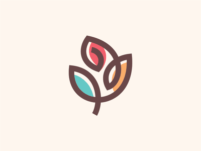 Mawaro art rose logo rose plant logo vector branding logotype illustration geometric art geometric flower
