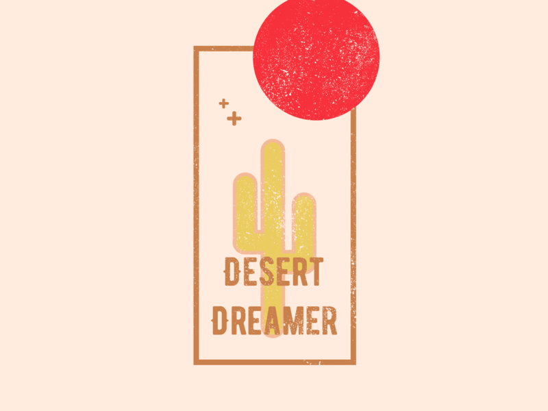 Desert Dreamer Illustration packaging product design digital illustration cactus flat austin vector texas san antonio branding design illustration